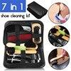 7 In 1 Shoe Cleaning Kit Neutral Shoe Polish Tube Polishing Cloth Plastic Shoe Horn Oval