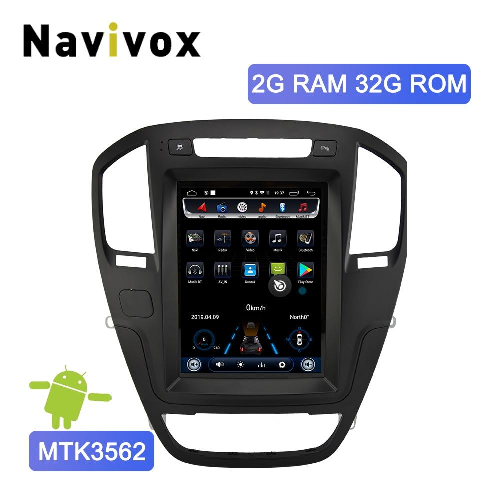 Tesla Estilo Navivox Android 6.0 Rádio Do Carro de Navegação GPS DVD Player para Opel Insignia Opel Holden/Buick Regal 2008 -2013