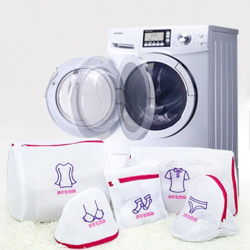 Hot Sell New Family Small Tool Sock Bra Dress Zipped Laundry Washing Bag Embroidery Mesh S
