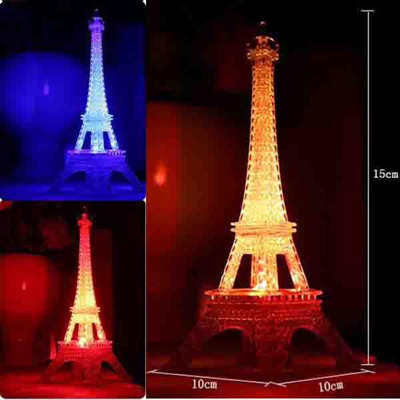 figuras de colores led luz de la noche romntica torre eiffel de ideas nightlight europea artesana