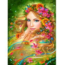 5D diy diamond painting Beauty flower full square embroidery mosaic cross stitch needleworks H763