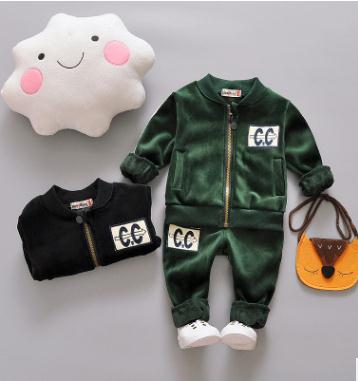 2017 Korean Children's Clothing Autumn Winter Thicken Baby Girl  Boy Clothes Suits costumes for Girls Baby 2 pcs Set SY-F175203 2pcs set baby clothes set boy