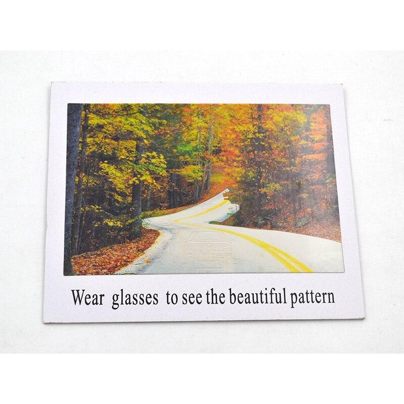 Big Polarized Sunglasses Test Card Check Glasses Polarized Paper Polarized Spectacles Examinatio Decorative Painting Size17x14cm