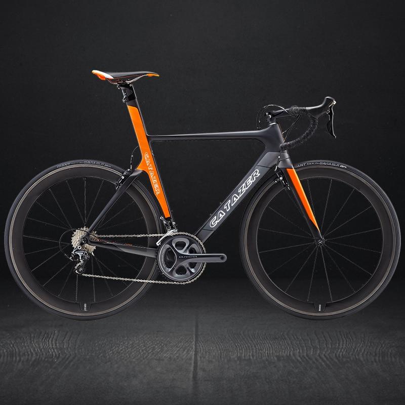 HTB1NeCyaiHrK1Rjy0Flq6AsaFXac - CATAZER 700C Road Bike Super Light T800 Carbon Frame Racing Road Bicycle Carbon Wheelset R8000 22 Speed Professional Road Bike