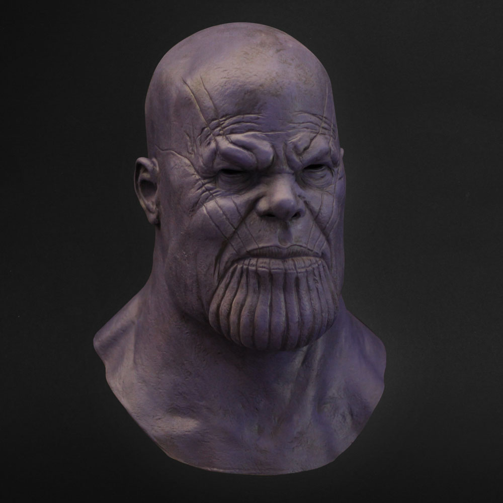 Thanos Mask Cosplay Avengers Endgame Thanos Costume Accessory Latex Masks Full Face Helmet Halloween Carnival Party Props2