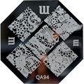 Venta al por menor de QA1-98 nail art placa de la imagen. plantilla del clavo diseños que eligen para qa series herramientas de belleza de uñas