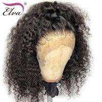 Полный шнурок человеческих волос парики для черный Для женщин вьющиеся парик предварительно сорвал волосяного покрова с ребенка волосы от