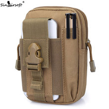Luggage Bags - Bag Parts  - 2017 New SINAIRSOFT Tactical Molle Bag Pouch Belt Waist Packs Bag Pocket Military Fanny Pack For Iphone7, 7Plus,Samsung