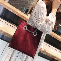 Autumn Winter New Arrival Velour Cross Body One Shoulder Handbags Fashion Casual Lady Elegance Worker Shopping