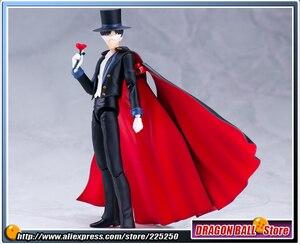 """Image 5 - Anime """"joli gardien marin lune"""" Original BANDAI Tamashii Nations SHF S.H. Figurine Figuarts masque de smoking"""