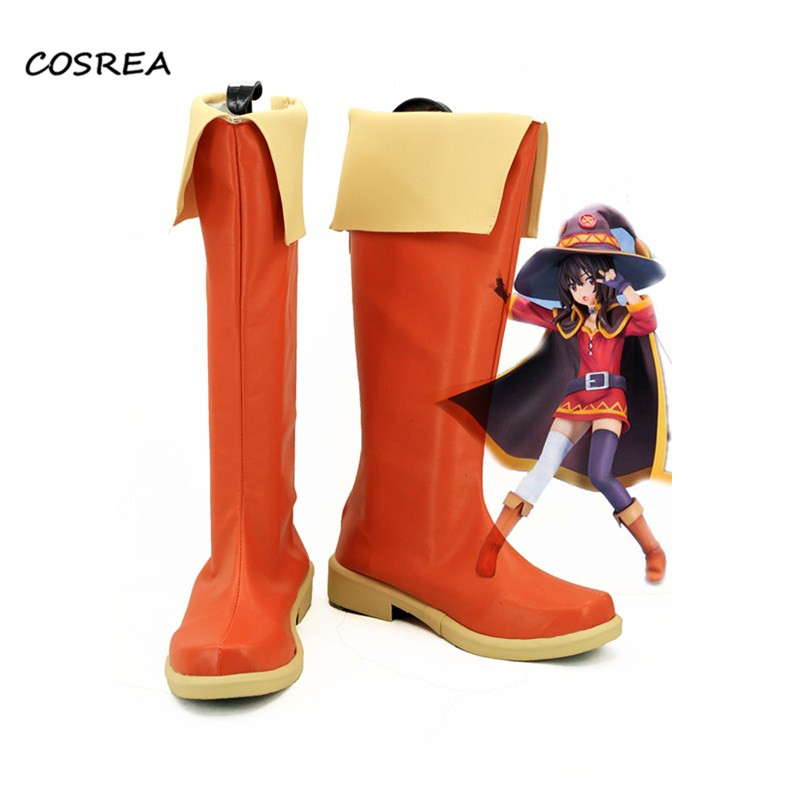 Anime New Kono Subarashii Sekai ni Shukufuku wo Megumin Shoes Cosplay Costumes Adult Women Halloween Party Props Boots Customize