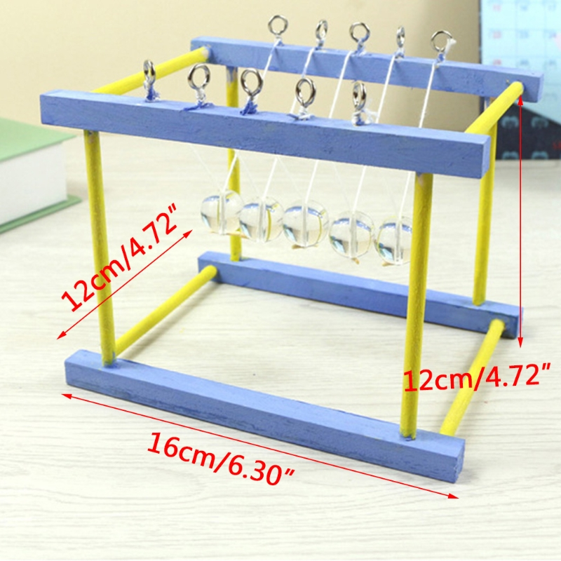 DIY Newton Cradle Balance Balls Science Technology Educational Puzzle Desk Toy