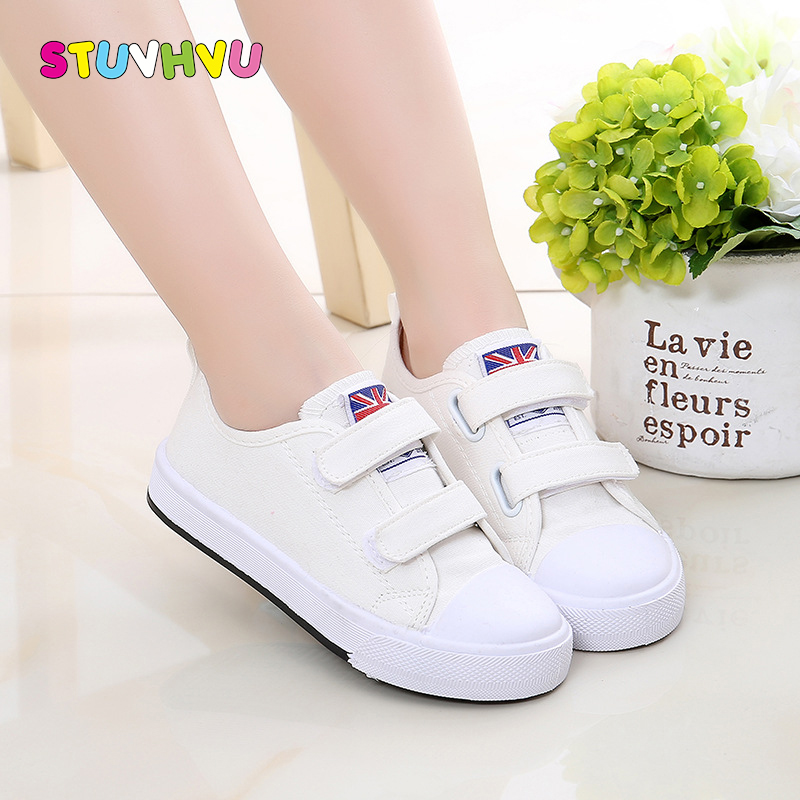 Kid shoes children boys canvas shoes spring and autumn girls small white shoes for boys students school flat breathable sneakers