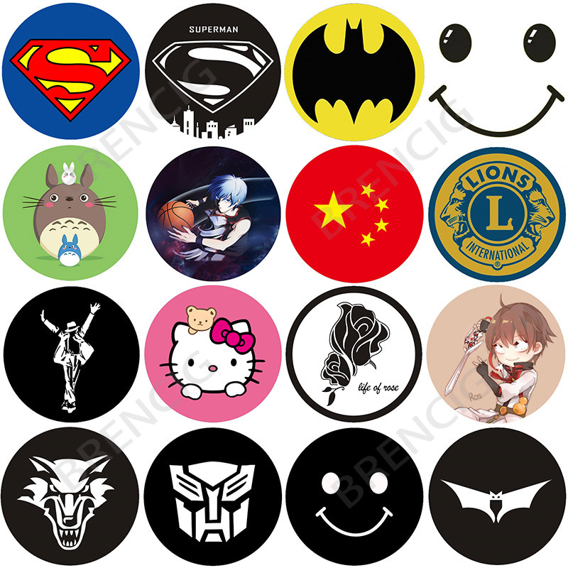 Universal Pattern Round Metal Plate disk Paste On smartphone Magnetic Car Phone holders Support Car mobile accessories 40X0.3MM