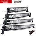 """Oslamp 22 """"32"""" 42 """"52"""" Chip de CREE 3-row LED Light Bar Combo Beam Led Luz de Trabalho Bar Offroad 12 v 24 v Caminhão SUV 4WD ATV 4x4 Levou Bar"""