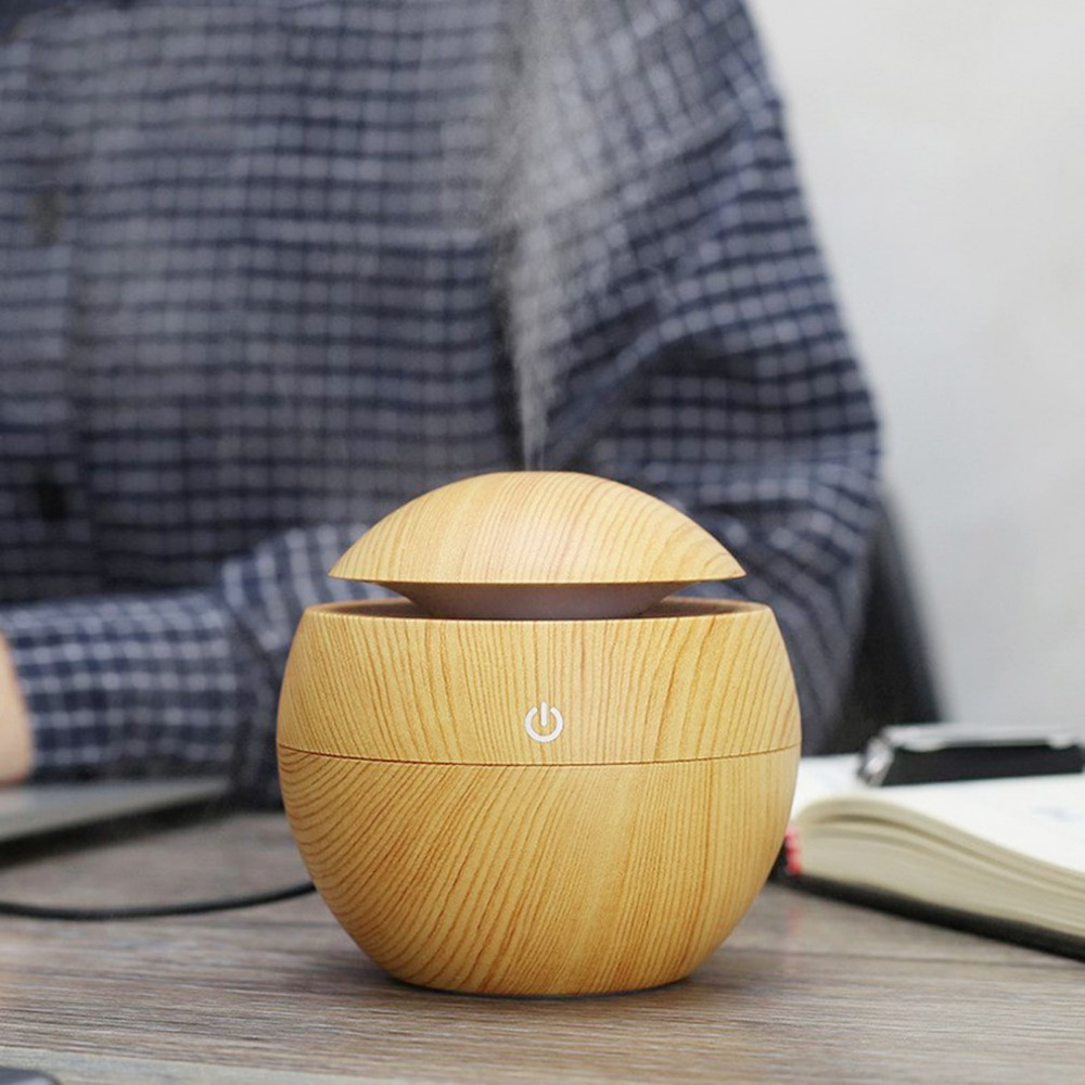 120ml usb Air Humidifier Essential Oil Diffuser Aroma Lamp Aromatherapy Electric Aroma Diffusers Mist Maker for Home Wood grian usb mini humidifier air humidifier aroma diffuser essential oil diffuser humidifier atomizer mist maker home carry