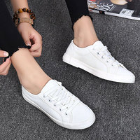 Fashion Casual Women S Vulcanize Shoes Lace Up Ladies Canvas Shoe Female Leisure Flat Footwear