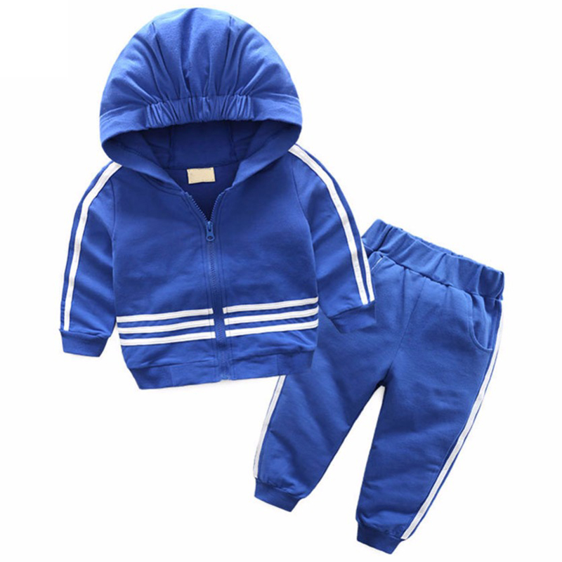 BINIDUCKLING Children Boys Girls Stripe Sports Style Set Clothing Hooded Coat Jacket+Pants Suits Kids High Quality ClothesBINIDUCKLING Children Boys Girls Stripe Sports Style Set Clothing Hooded Coat Jacket+Pants Suits Kids High Quality Clothes