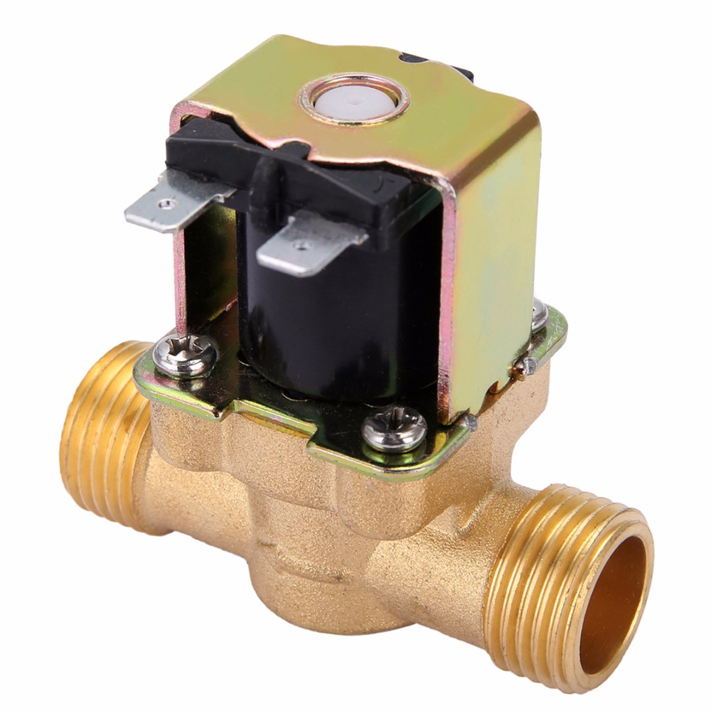 1pc 12V 1/2 2-Way Normally Closed Brass Electric Solenoid Valve Pressure Regulating Valves For Water Oil Steam Machines 1 1 4 uni d steam solenoid ptfe valve us 35 2 2 way valves 2l300 35