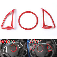 Fit For Chevrolet Camaro 2017 Auto ABS Steering Wheel Cover Trim Decor Ring Red Blue Interior
