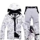 Nuevo grueso cálido traje de esquí hombres mujeres invierno a prueba de viento guantes de esquí impermeable Snowboard chaqueta pantalones traje masculino de talla grande 3XL - 3