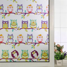 45/60*200cm Colored Owl Decorative Film Window Stained Glass Stickers Static Cling Frosted Privacy bathroom Home Decor