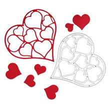 3D Lace Heart Frame Metal Cutting Dies Stamp Stencils For DIY Scrapbooking Photo Album Paper Card Making Embossing Template Mold(China)