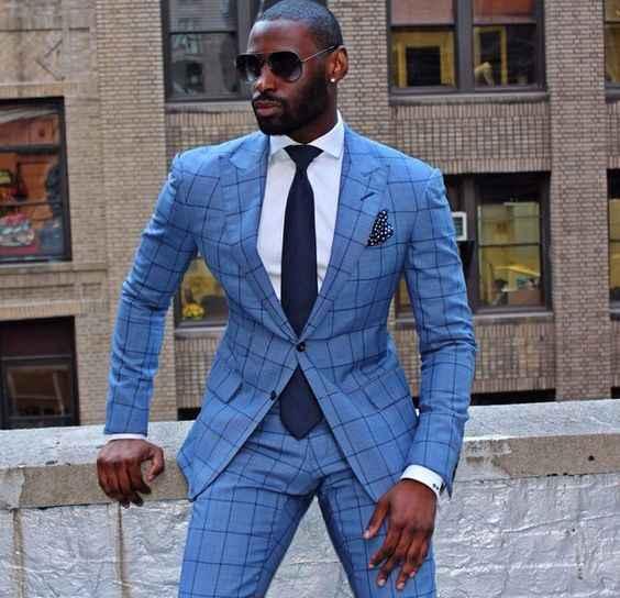 英国スタイル格子縞のスーツ男性2017ヴィンテージ正式な衣装男性スリムフィットタキシードノッチラペル花婿の付添人のウェディングスーツ(ジャケット+パンツ)