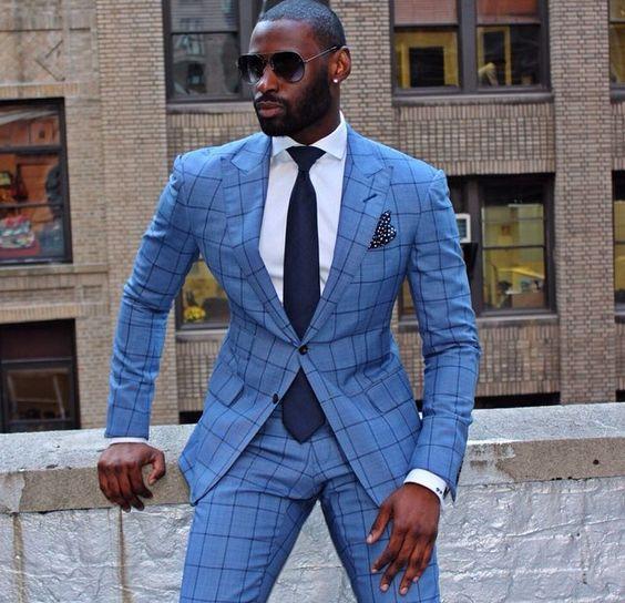 British Style Plaid Suits Men 2017 Vintage Formal Costumes Men Slim Fit Tuxedos Notch Lapel Groomsmen Wedding Suits(jacket+pant)