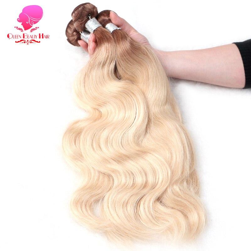 KÖnigin SchÖnheit Haar 2 Bundles 613 Blonde Lockige Brasilianische Haar Bundles Remy Menschenhaar 12-30 Zoll Dicken Haar Schuss Kostenloser Versand Haarverlängerung Und Perücken