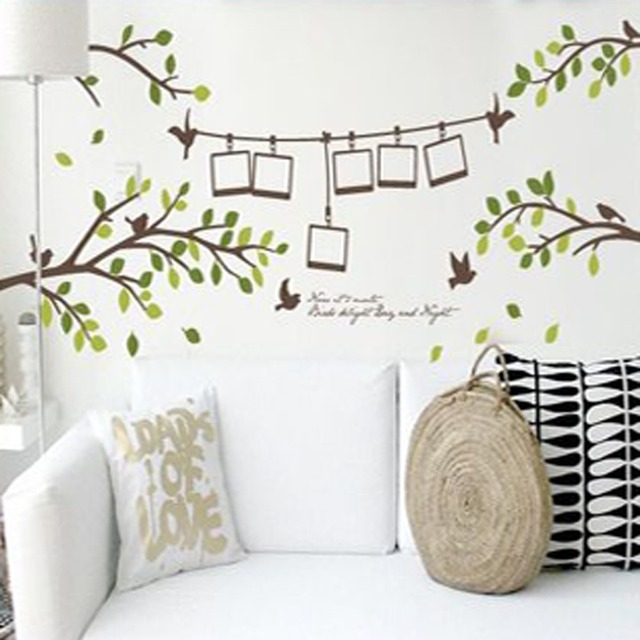 Mabao photograph bird frame tree wall sticker living room decoration wallpaper decals diy pvc removable poster