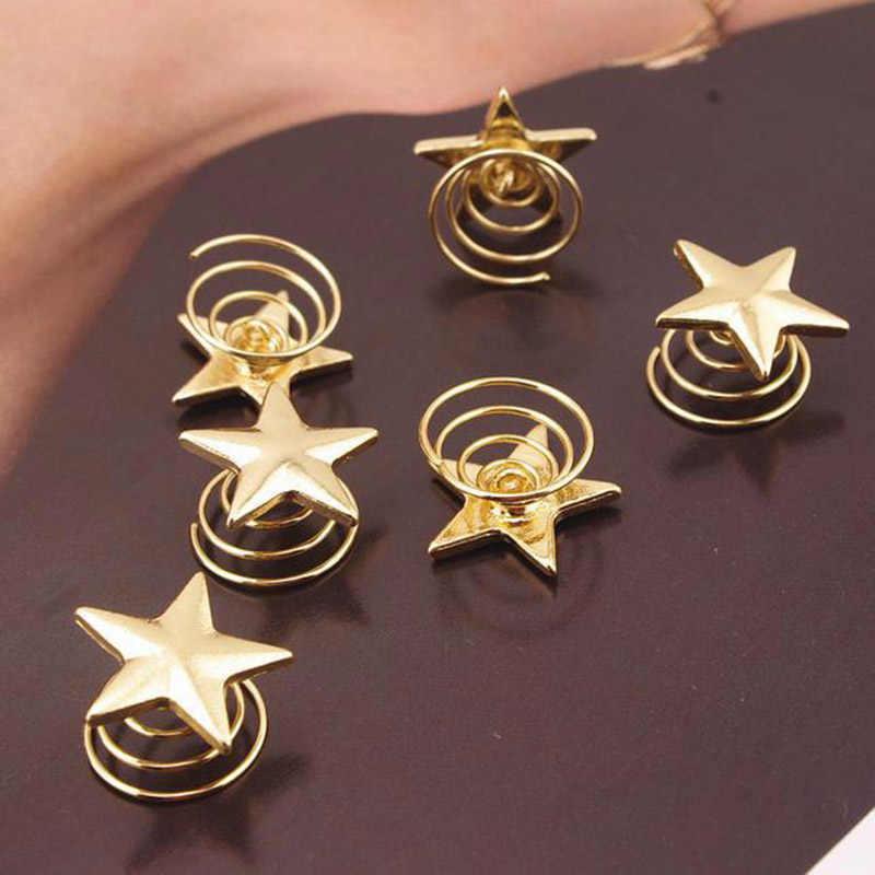 1 peça estrelas bobina primavera clipes hairpin cabelo jóias para mulher menina cabeça tiara casamento acessórios para as mulheres