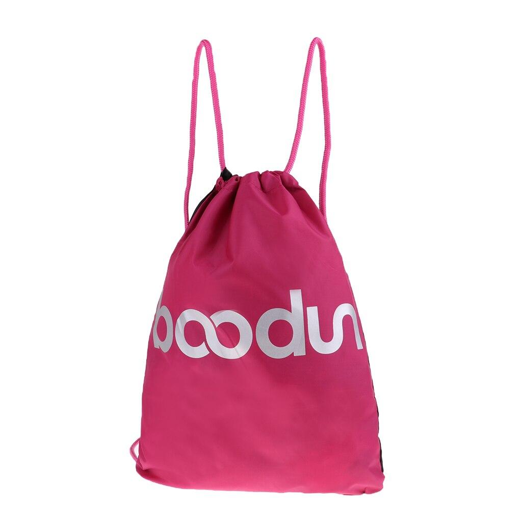 1 Pcs Lightweight Gym Bag Drawstring Bag Waterproof Sack For Men Women Outdoor Sport Shopping Travel Backpack Black Pink