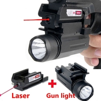 2in1 Tactical CREE LED Flashlight LIGHT Red Laser Sight Combo For Shotgun Glock 17 19 22