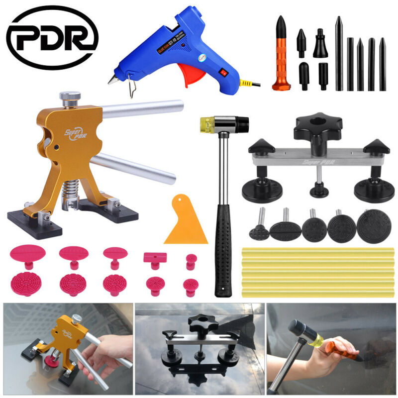 PDR Removing Dents Tool Set Car Dent Puller Body Work Repair Tool Set Auto Body Suction Cup Hand Tool Set