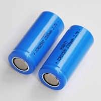 2-5 uds 3,7 V 22500 batería recargable de iones de litio icr22500 batería de iones de litio 2300MAH para la máquina de afeitar eléctrica de la linterna