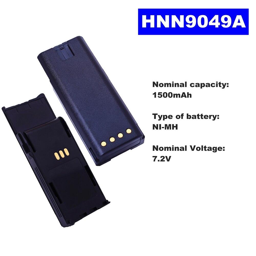 7.2V 1500mAh NI-MH Radio Battery HNN9049A For Motorola Walkie Talkie P1225 Two Way Radio