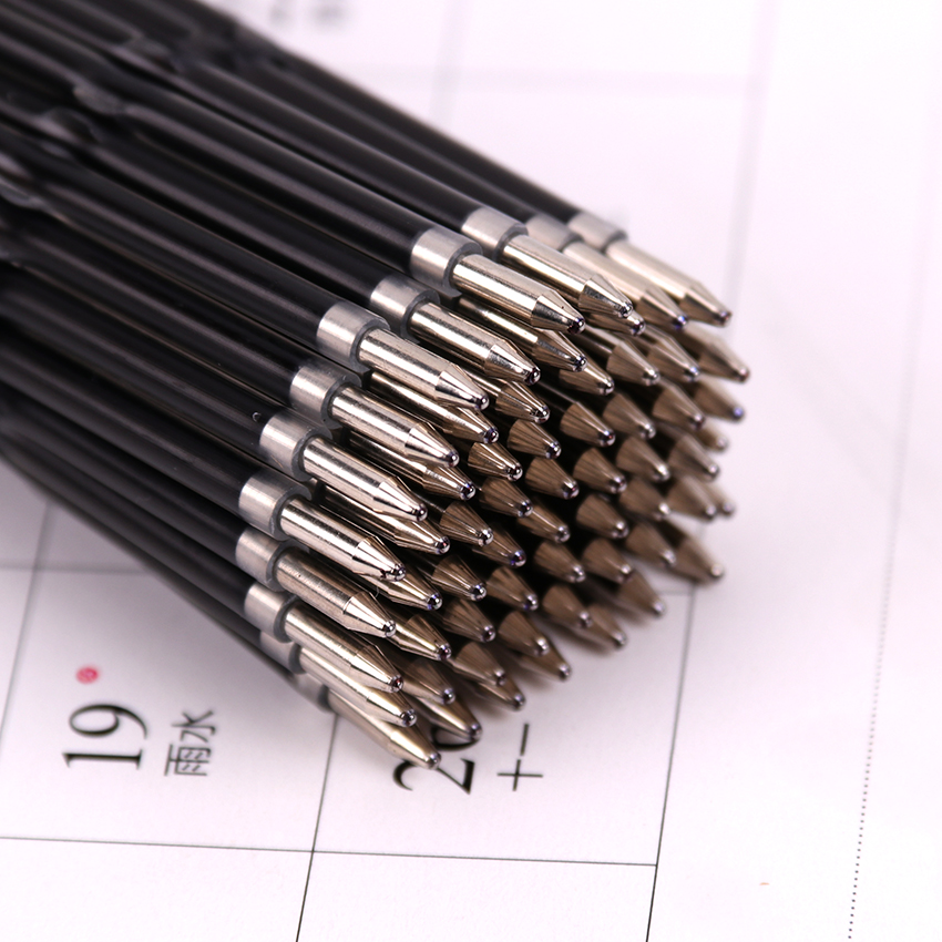 30PCS/lot Ballpoint Pen Refill Quality Refill Black Blue Red 0.7mm Bullet Refill Office School Stationery Gifts R-107