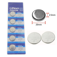 цена на 5pcs CR2025 Button Batteries DL2025 BR2025 KCR2025 Cell Coin Lithium Battery 3V CR 2025 For Watch Electronic Toy Remote