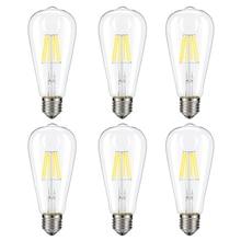 GentelWay 8W Dimmable Edison LED Bulb Lamp E27/ST64 For Chandelier and Pendant Light Lighting Fixture E26 Bulbs Home Living