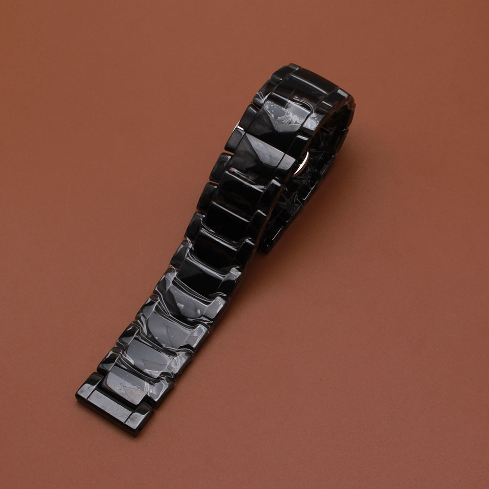 22mm High quality Silver Depolyment Watchband Black and White Ceramics Watch Bands Bracelets Common polished accessories longer krishen kumar bamzai and vishal singh perovskite ceramics preparation characterization and properties