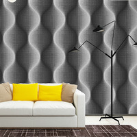 HaokHome Visual 3d Modern Luxury Geometric Wallpaper Grey Black Living Room TV Background Ceiling Wall Paper