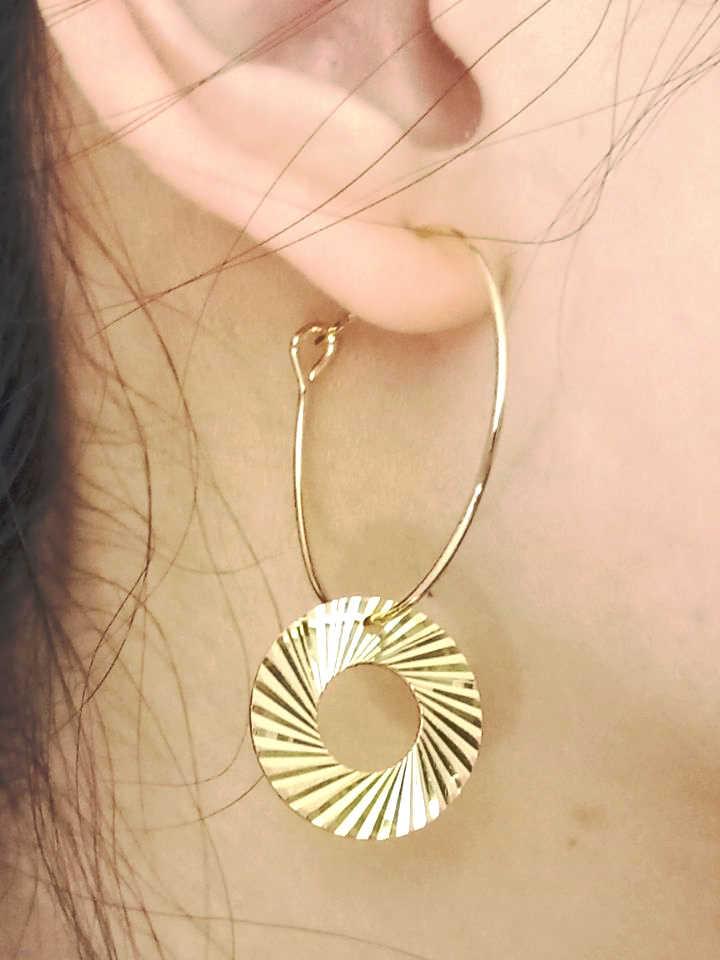 חדש אופנה אישיות מעגל מסמרות הנמכר ביותר פשוט פופולרי זהב גיאומטרי עגילי Wild תכשיטים סיטונאי