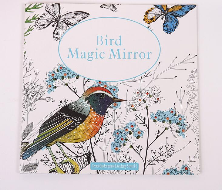 Bird Magic Mirror Based On Alice In Wonderland Inky Hunt Coloring Book Children Adult Kill Time Graffiti Painting Drawing Books From Office School