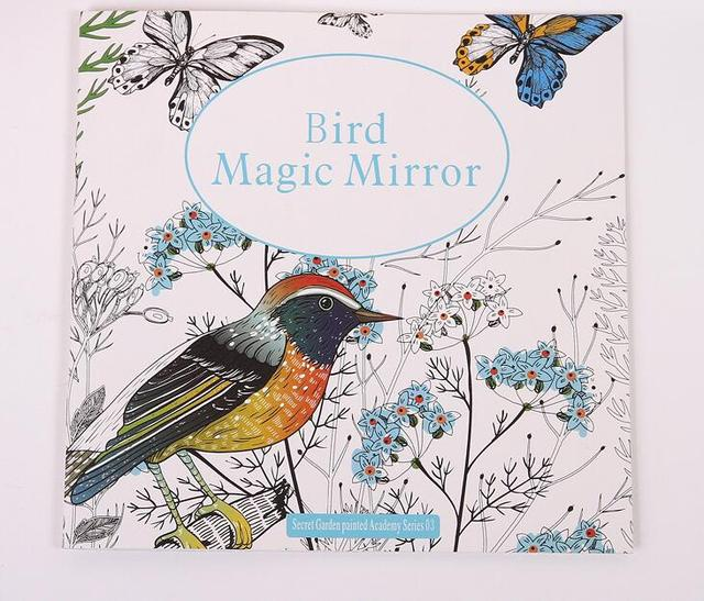 Bird Magic Mirror Based On Alice In Wonderland Inky Hunt Coloring Book Children Adult Kill Time