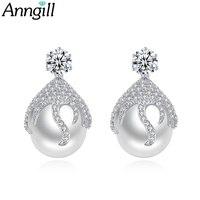 Top Quality Simulated Pearl Stud Earrings For Women Girls New Korean Fashion Elegant Party Charm Brincos