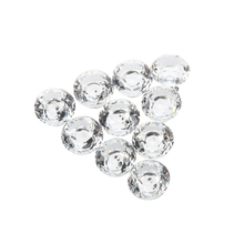Brand New 10pcs 30mm Diamond Crystal Glass Door Drawer Cabinet Furniture Handle Knob Screw