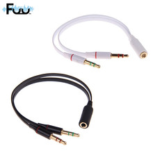 Computer Headset One In Two Couples Headset Combo Adapter Cable 3.5mm Phone Computer Switch Headphone transducer audio splitter