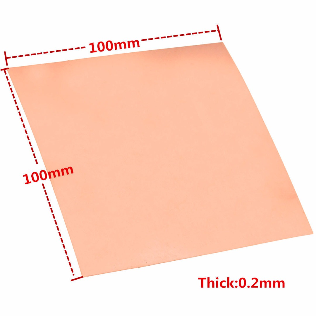 1pc 0.2mm Thickness Copper Cu Metal Sheet Foil 99.9% Pure Copper Plate 100x100mm with Good Electrical Conductivity 1sheet matte surface 3k 100% carbon fiber plate sheet 2mm thickness