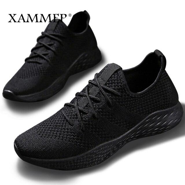 Mannen Sneakers Mannen Casual Schoenen Merk Mannen Schoenen Mannelijke Mesh Flats Plus Big Size Loafers Ademend Slip Op Lente Herfst xammep